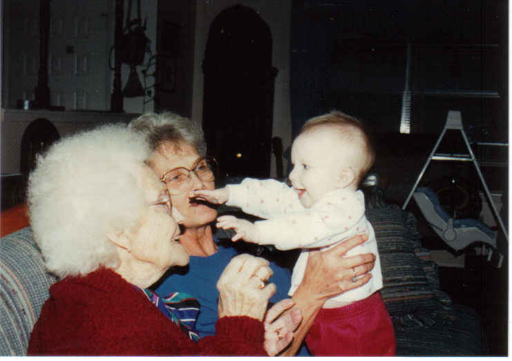 Mam-ma, Mama, and Kendall dec 91