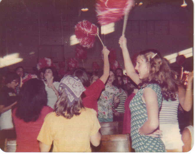 Girls State Red convention (Laurie in front) 1976