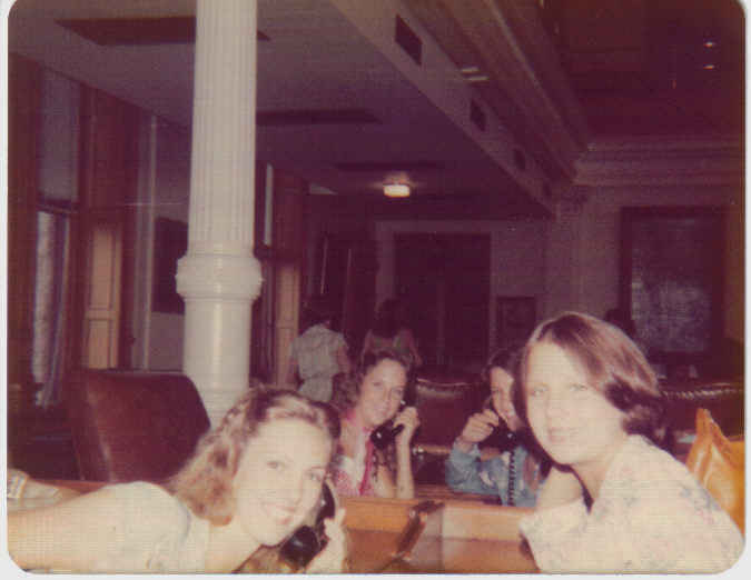 Laurie Engel, Vicki, Cindy Reid, and me House of Reps Austin Girls State 1976