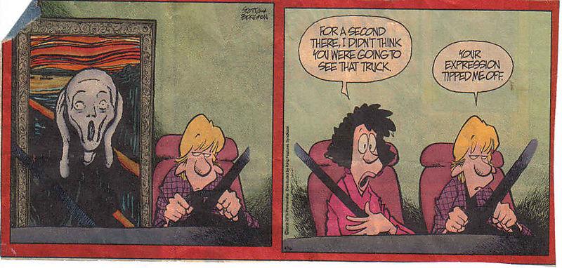 Cartoon teen driving