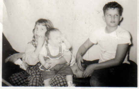 Brenda, me, donnie, buster 1960ish
