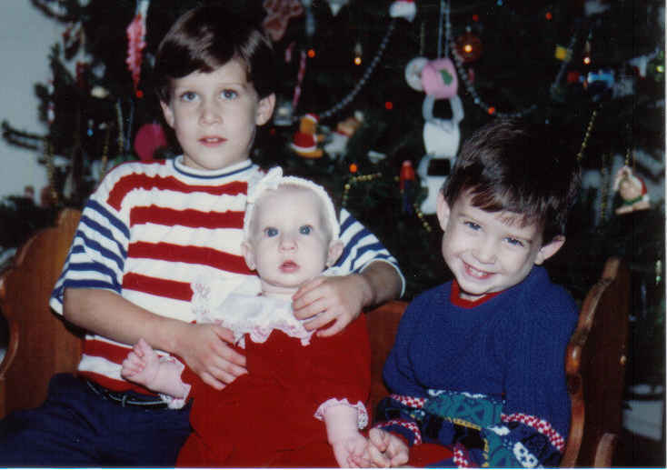 Tommy, Kendall, Daniel Christmas 1991