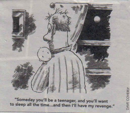 Revenge on sleeping teenagers