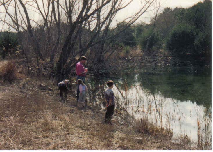Tom and kids pond 1990s