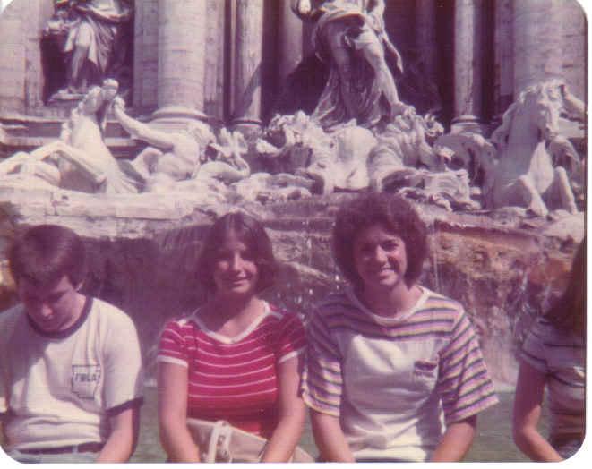 Matt, me, Pattye at Trevi Fountain, Rome 0776