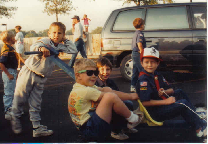 Tommy Tiger Cubs Push Cart races 1992 Evan, Andy, Andrew, Tommy