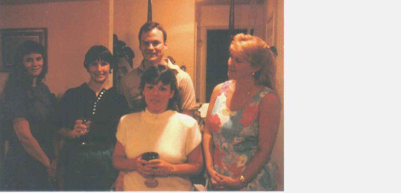 My 30th bday party 1989 leslie, kim, denise, darla