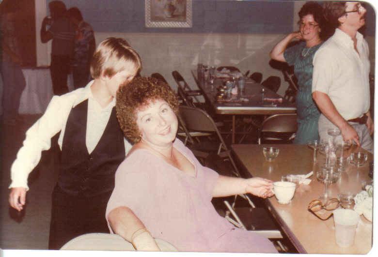 Mom our wedding 1982