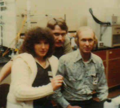 Me, larry, ken in the lab jan 80 cropped