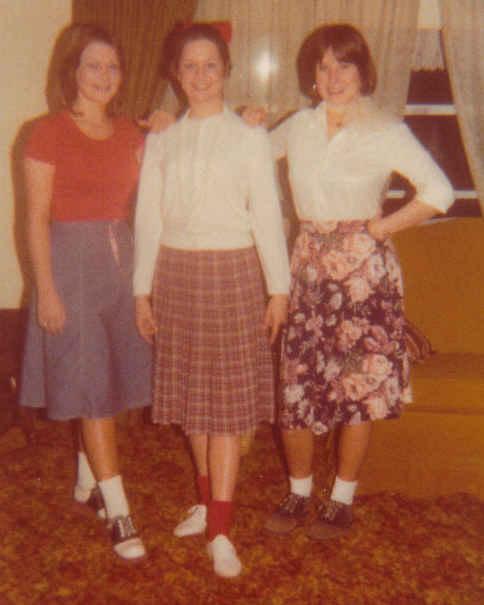 Tamara, kathy,and barbara sock hop