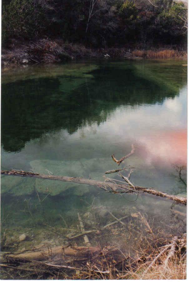 Original creekbed visible dec 1996