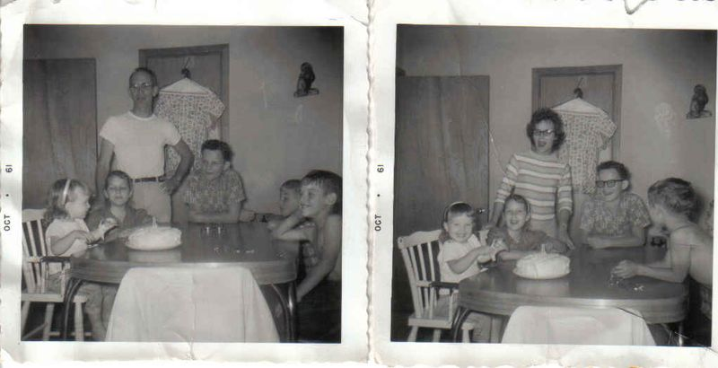 My 2nd bday combined 1961