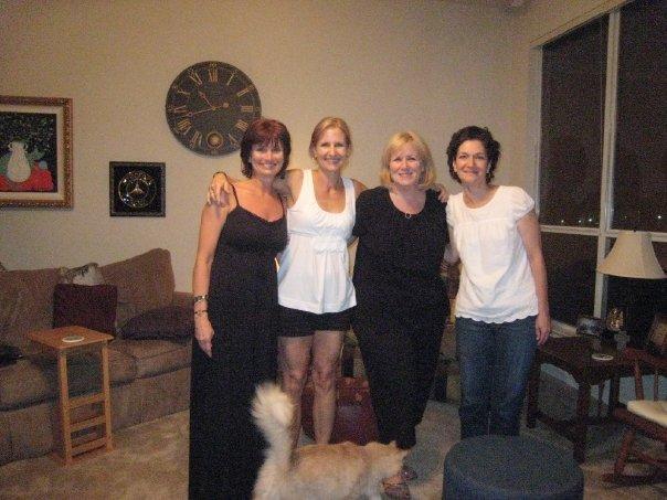Shari, me, Darla, Nancy june 09 by Maddie