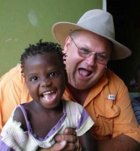 Scott Gray and Haitian friend May 09