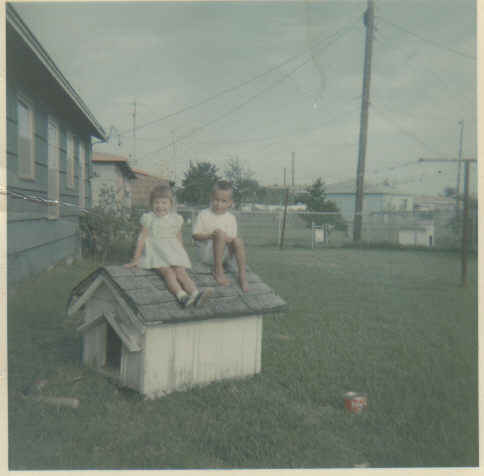 Me and ricky loyd his back yard 1962ish