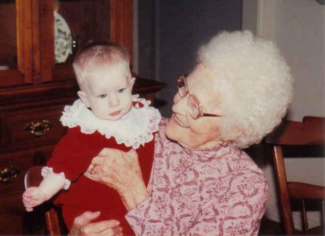 K and mam-ma Christmas 91