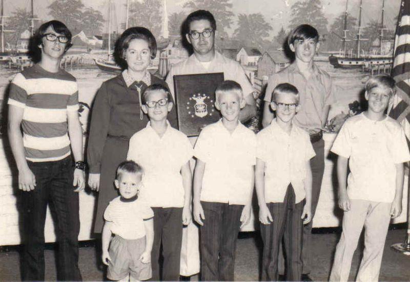 Mom, pop and boys