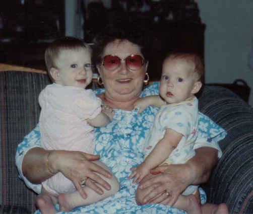 K, nick and Mom april 92
