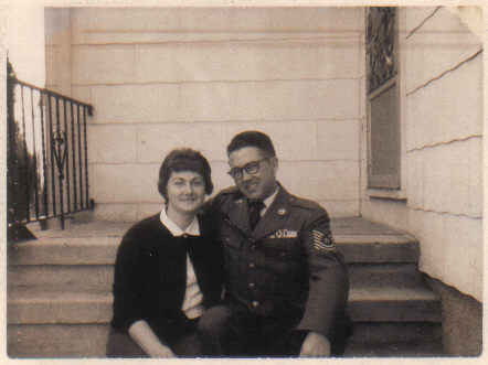 Mom and pop in uniform
