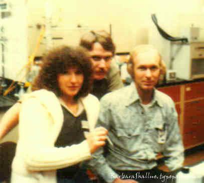 Me, larry, ken in the lab jan 80 sign