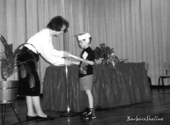 Kindergarten graduation may 95bw