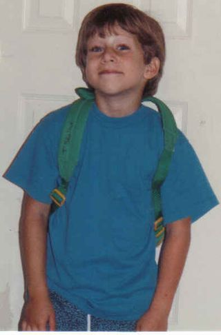 Tommy's first day kindergarten 08 91