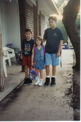 Daniel 2nd, kendall kindergarten, tommy 5th first day school 08 96