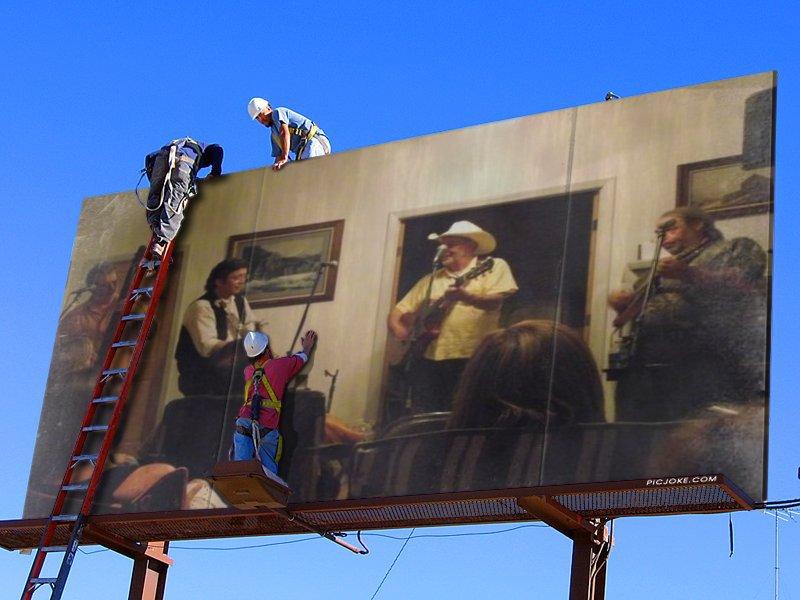 Shake trio and michael billboard