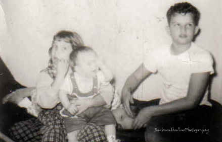 Brenda, me, donnie, buster 1960ishs