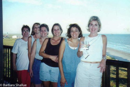 Marykay, jacque, conni, me, nancy, susan on the balcony