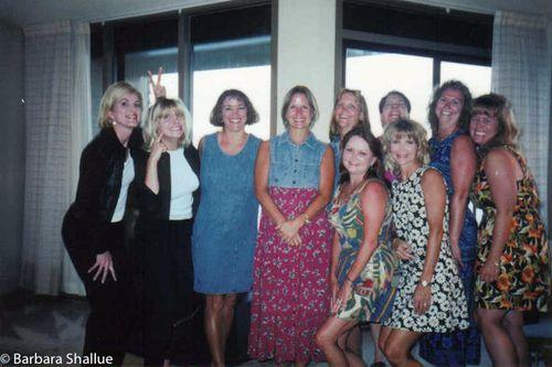 Susan, Kim, Nancy, me, Jacque, Marla, Tamara, MaryKay, Conni, Rachel