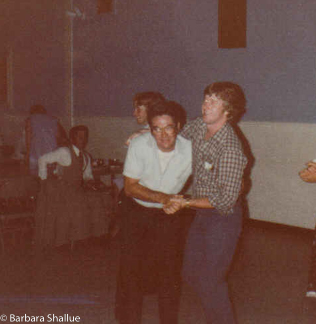 Pop and tom dancing and me and scott