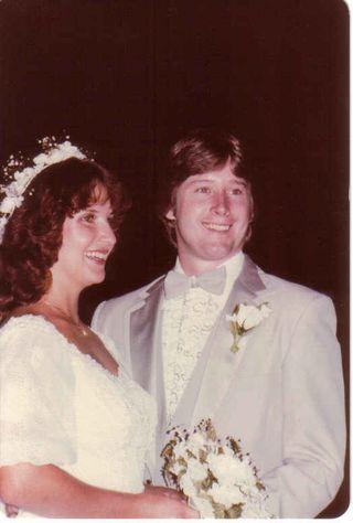 Tom and me wedding 1982