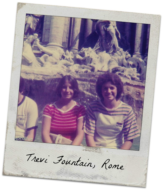 Rome, Trevi Fountain, Matt, me, Pattye