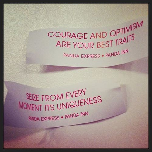 Courage and optimism