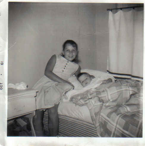 Brenda and me 1961ish - our room