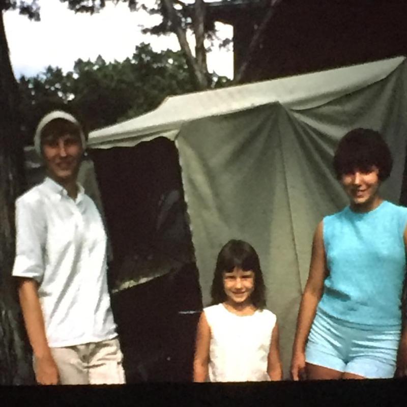 Pat, me, Brenda at cabin