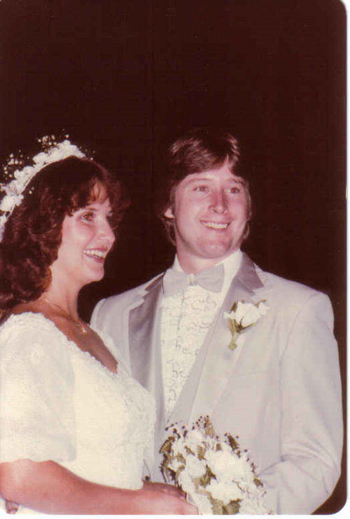 Tom and me wedding 1982