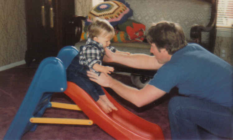 With tom and birthday slide