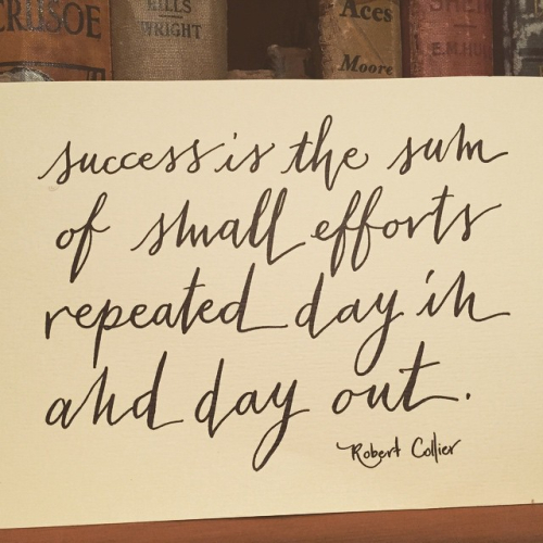 Success is the sum