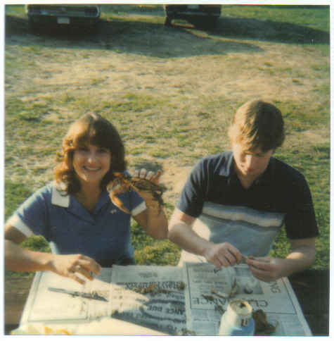 My first steamed crab - Maryland April 82
